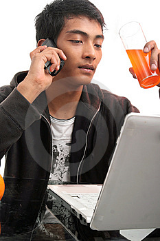 young-man-using-laptop-thumb8936935